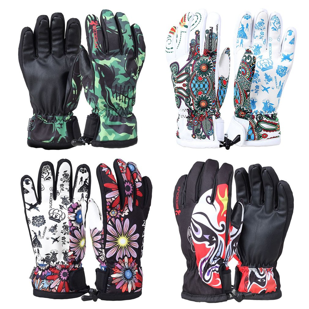 4 style Men Women Professional Ski Gloves Windproof Waterproof Non-slip Snow Skating Skiing Gloves Cotton Warm Gloves