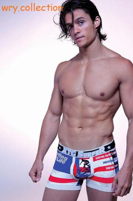 Beachwear, sea shorts, the man and sea life Men Underwears Boxers XTG Underpants Cotton High Quality free shipping