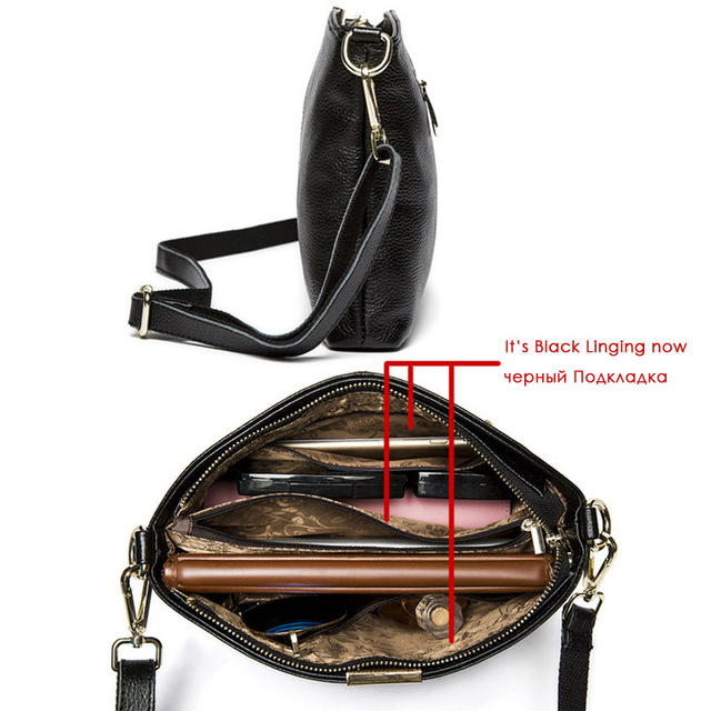 2017 Fashion Women Bag Genuine Leather Women Shoulder Bags Brand Quality Bag Cow Leather Vintage Clutch Crossbody Messenger Bags