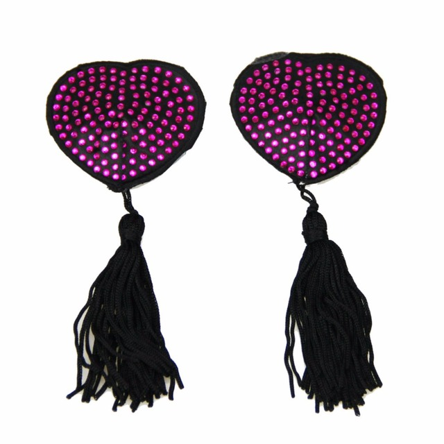 Studded Heart Pasties with Tassels
