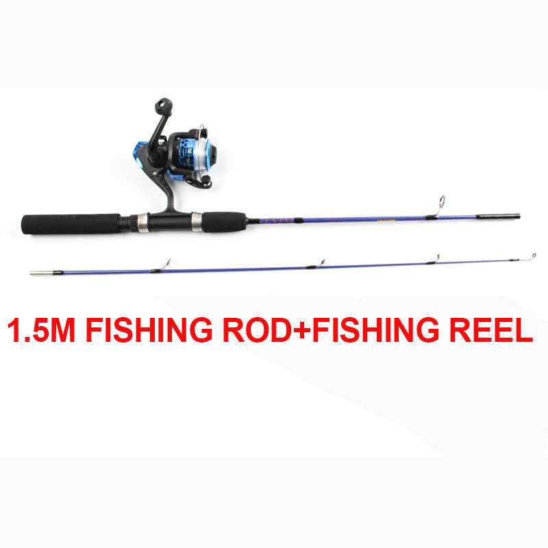 PureLeisure 釣竿 Sazan Olta 1.2 メートル 1.5 メートルアイス釣竿 + 釣りリール高速アクションカーボン Baitcasting ホイールロッドペスカ