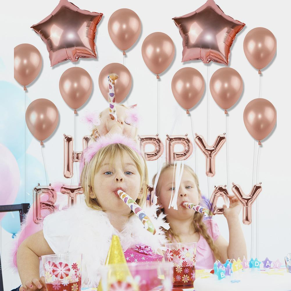 Free Shipping Rose Gold Birthday Party Balloon Decoration Set 30th Happy 2018