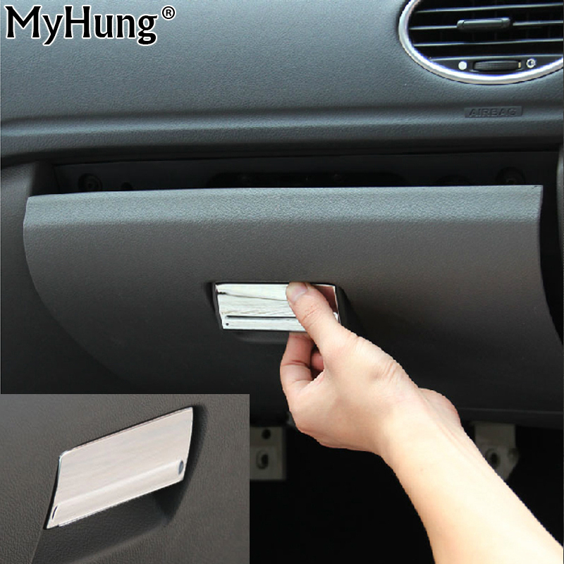 Car Styling Gloves Box Handle Buckle Cover Trim For Ford Focus 2 Mk2 2005 2006 2007 2009 2010