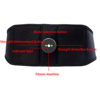 Smart EMS Electric Muscle Simulator Massage Abdominal Muscle Press Fitness Belt Gym Home Exercise Body Equipment Machine