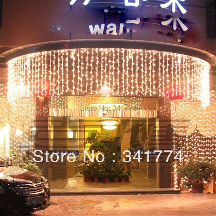 10*0.65m 320 Beads LED Lighting Strings Lights  Christmas tree Curtain Garland Chandelier for Christmas Holiday Decoration 30m 300 led 110v ball string christmas lights new year holiday party wedding luminaria decoration garland lamps indoor lighting