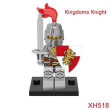 Kingdoms Knight Medieval Knights Building Blocks Xh518 Figures Super Heroes Mini Bricks Diy Toys For Children