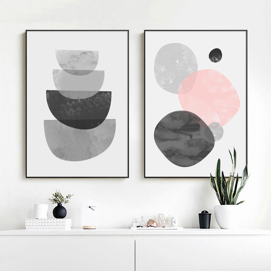 Geometric nordic posters and prints wall art canvas painting pop art abstract paintings for living room wall decoration pictures