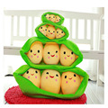 25cm/40cm/50cm/65c Peluche Unicorn Juguetes Super Cute Little Peas Soft Stuffed Toys ,3 In A Pod Pea Plants Pillow
