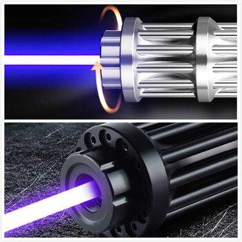 Most High Power Blue Laser Pointers Laser sight Torch 450nm 200000m Focusable Flashlight burn match