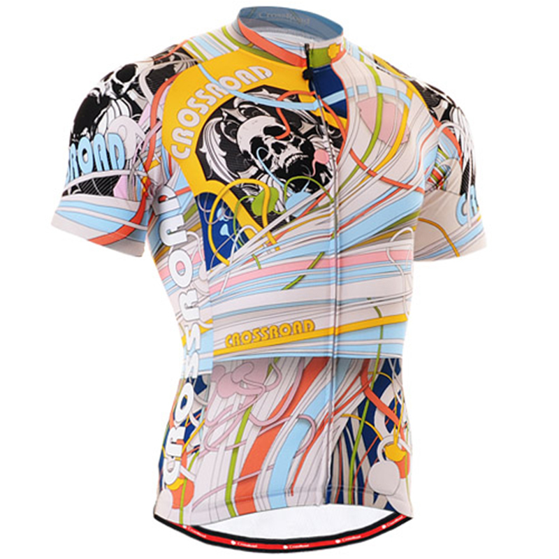 Life On Track Male Road Bike Clothing Sets Coloured Ribbon With Skull Strava Cycling Jersey For Man Breathable Fitness