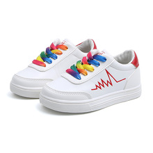 Buy COZULMA Spring Kids Rainbow Shoelace Sports Shoes Girls Boys Fashion Sneakers Breathable Non-Slip Casual Shoes Size 26-36 directly from merchant!