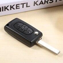 все цены на Car Remote Key 433MHz ID46 Folding PCF7941 VA2 HU83 Uncut Blade Partner Keyless Entry For Peugeot Citroen C2 C3 C4 C5 онлайн