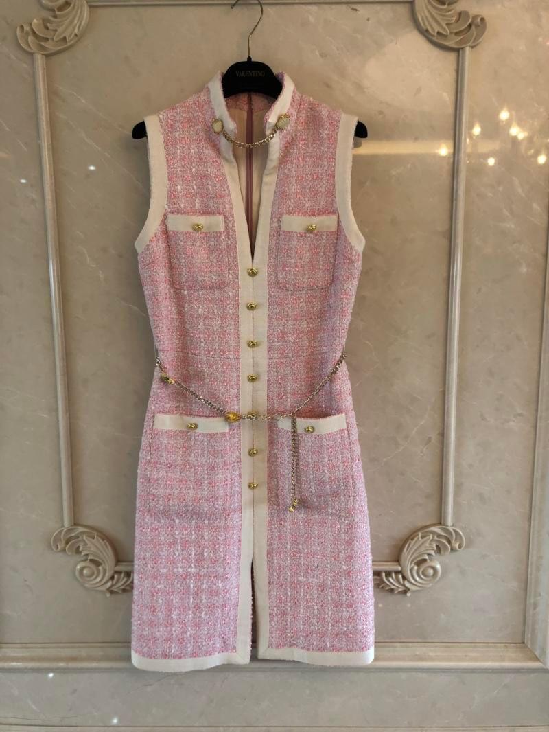 2 Gilet Couleur Femmes 2 Robe Tweed 13 Rmsx Printemps Nouveau Slim 2019 wqC08Icn
