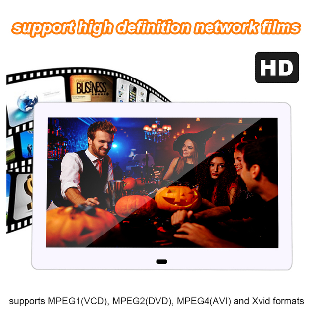 Cheap 10.1 Inch Ultrathin LED Screen Digital Photo Frame HD 1024 x 600 Electronic Picture Player Music Video Full Function Good Gift