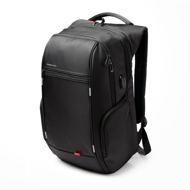 e6ce6476428b Laptop backpack with External USB Charge 15 17 inches Waterproof Anti-theft  black Business Bag for Men women 2017 New designer