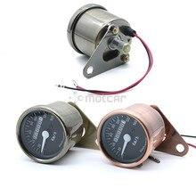 Universal Fit Motorcycle Dual Gauge Odometer Backlight Tachometer Speedometer Tacho Gauge Bronze Color KM/H for honda cbr400 nc29 speedometer tachometer tacho gauge instruments motorcycle parts