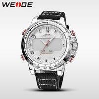 WEIDE genuine nylon relógios mens relógios de luxo da marca à prova d' água esporte relógio de quartzo branco relógio automático analógico alarm clock