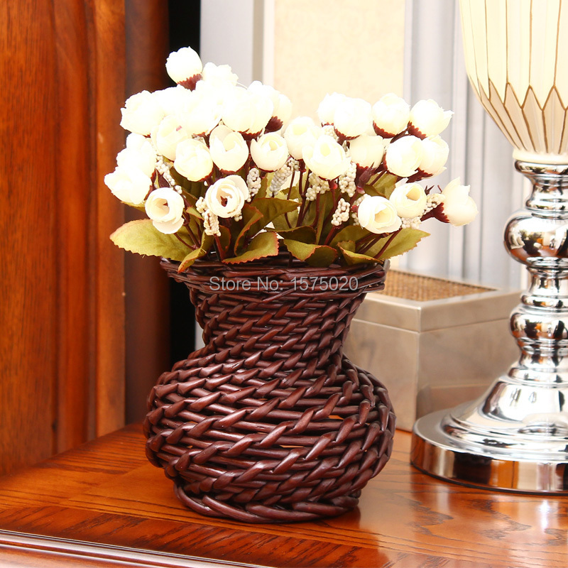 Hot sales chinese handicraft wicker crafts vases for wedding hot sales chinese handicraft wicker crafts vases for wedding decoration flower vase home decoration accessories in vases from home garden on junglespirit Image collections