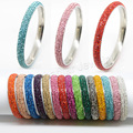 5 rows Fashion High Quality Crystal Stainless Steel bangles rhinestone For Love bangles Women Bracelets