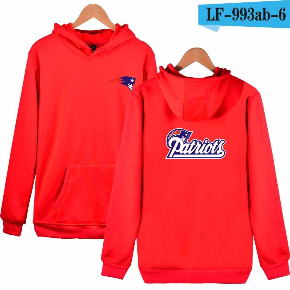 best sneakers a5396 e58a7 NFL New England Patriots Sweatshirt Men Women Hoodies Hooded Loose Sweat  Streetwear Clothes