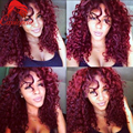 Brazilian Curly Red #99j Lace Front Wigs Glueless Human Loose Wave Front Lace Wig With Baby Hair For Black Women