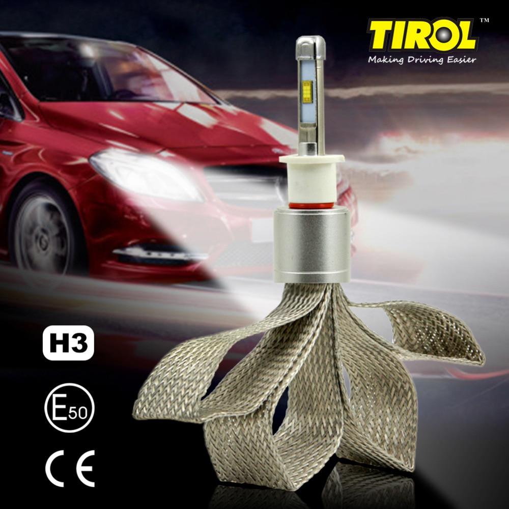Tirol LED Headlight Bulbs 40W 4800LM Headlight Conversion Kit Beam Bulbs 6000K High Power White Car Light Source2PC FREESHIPPING 2pcs d1 d2 d3 d4 d2s d2r d2c d4 car led headlight conversion kit 110w 10400lm 6000k white light bulbs