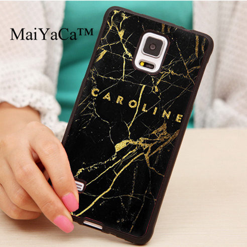differently 9aa37 1b780 US $4.17 5% OFF|MaiYaCa Personalized Custom Name Gold Black Marble Phone  Case For Samsung S5 S6 S7 edge S8 S9 plus Note 8 4 5 Rubber Phone Cover-in  ...