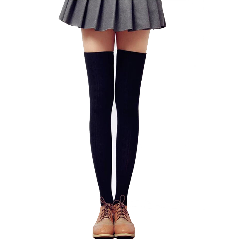 1 Pair Womens Socks Stockings Thigh High Over Knee Socks 55 Cm Long Cotton Socks High Quality 8 Colors 2018 Winter Thick Warm Fashionable In Style;