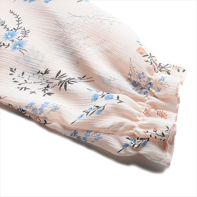 Printemps Robe Soie En Mode Douces De Élégantes Vêtements Nouveautés Mousseline Dames Slim Fit Impression Femmes Ssd101 Robes Pink Casual IvxZwY