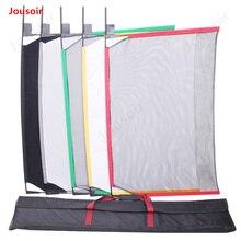 Фотографический светильник, управляемый тканью, пять цветов, большой флаг, тарелка, набор 62x91 см, мягкая оптическая сетка, пряжа, флаг, доска CD50 T02