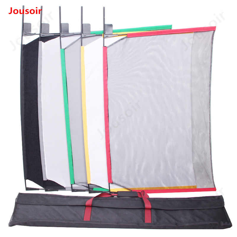 Photographic light-controlled cloth five colors large flag plate set 62x91cm soft optical mesh yarn flag board CD50 T02