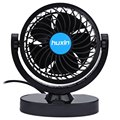 DC 12V Blue Car Truck Adjustable Silent Air Fan Auto Rotation Strong Wind Cooler Low noise And Strong Wind 360 Degree Rotation