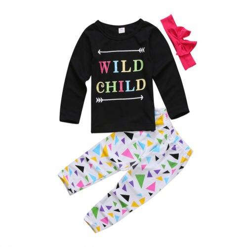 Toddler Kids Baby Girls T Shirt Tops Sweatshirt Pants Leggings