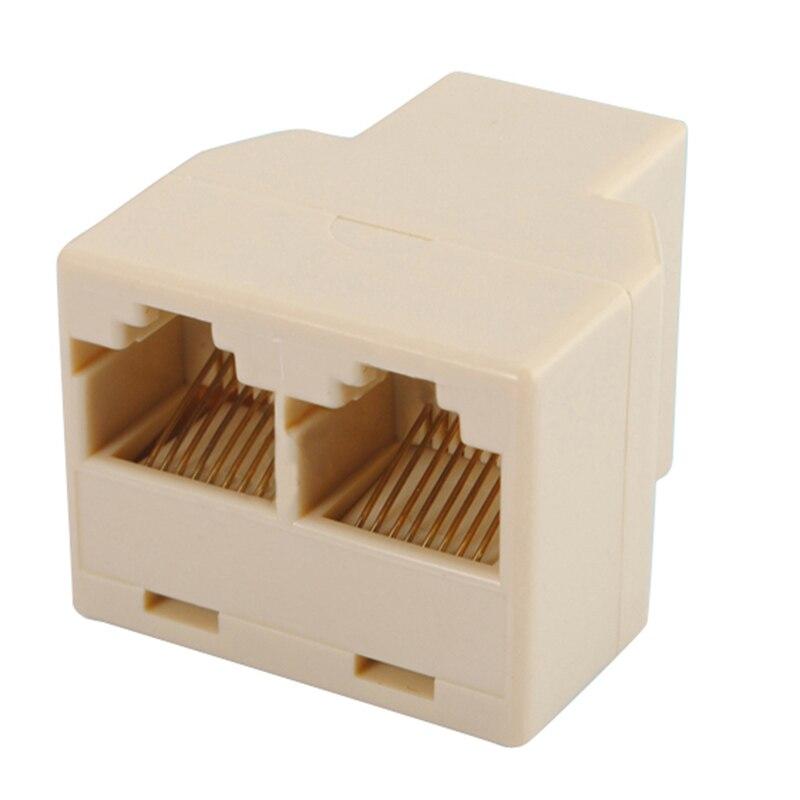 Lightweight RJ45 CAT 5 6 LAN Ethernet Splitter Connector Adapter PC