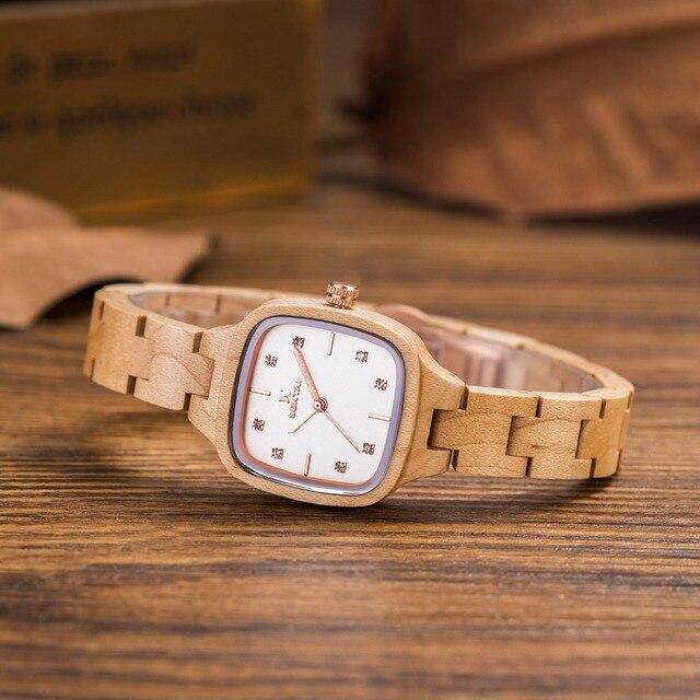 Luxus Mode Frauen Holz Uhren Handgemachte Ahornholz Japan MIYOTA Quarz  Armbanduhr Geburtstagsgeschenk Valentinstag Geschenke