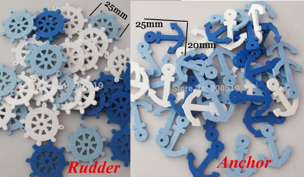 WBNLNS Mixed Anchor&Rudder DIY <font><b>Decorative</b></font> Scrapbooking embellishments 100pcs Mix colors crafts accessories