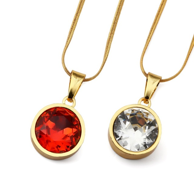 High quality hip hop ellipse created gemstone chains bling red high quality hip hop ellipse created gemstone chains bling red rhinestone gem pendants necklaces charm aloadofball Gallery
