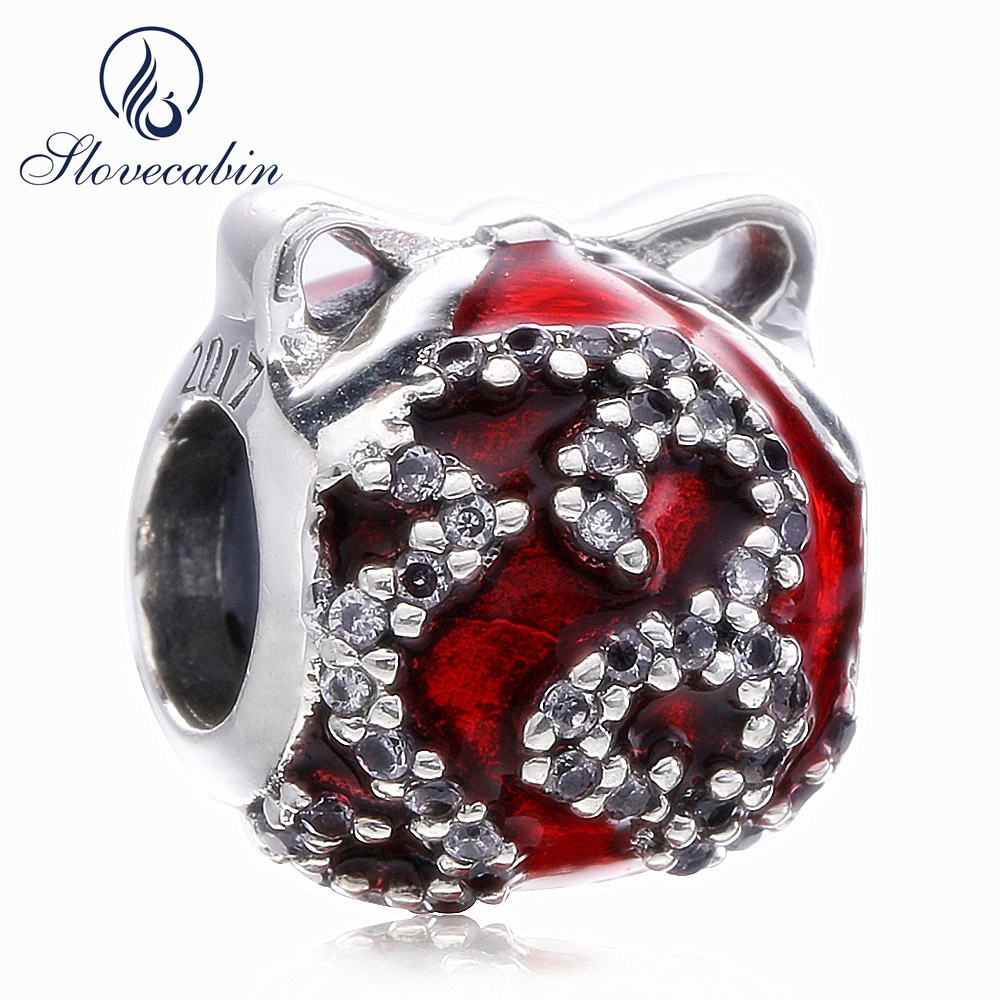 Slovecabin Black Friday Popular Jewelry Letter 2017 Charm Bead Red Festive Preview 925 Sterling Silver Bead DIY Jewelry Marking