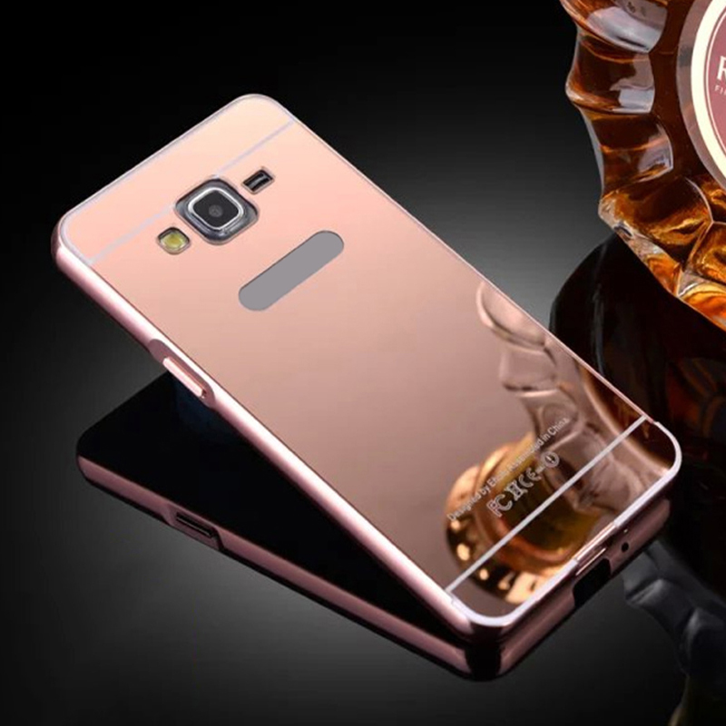 For Galaxy G530 Mirror Case For Samsung Galaxy G530 G530H Luxury Phone Metal Frame For Samsung Galaxy Grand Prime Mirror Coque