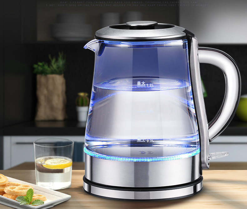 Electric kettle mini household large capacity 304 stainless steel automatic powered glass boiler цена и фото