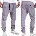 2016 мода брюки марка мужчин slim Boost Случайные jogger Брюки Khiki Черный Серый