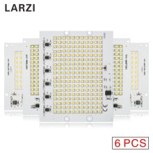LARZI 6Pcs LED Chip Lamp 220V Bulb Smart IC Led Light SMD 2835 Input 10W 20W 30W 50W 90W For Outdoor FloodLight With Varistors(China)