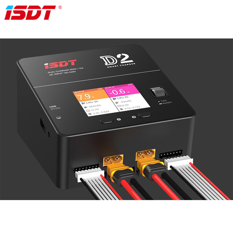 ISDT D2 200W 24A AC Dual Channel Output Smart Battery Balance ChargerISDT D2 200W 24A AC Dual Channel Output Smart Battery Balance Charger