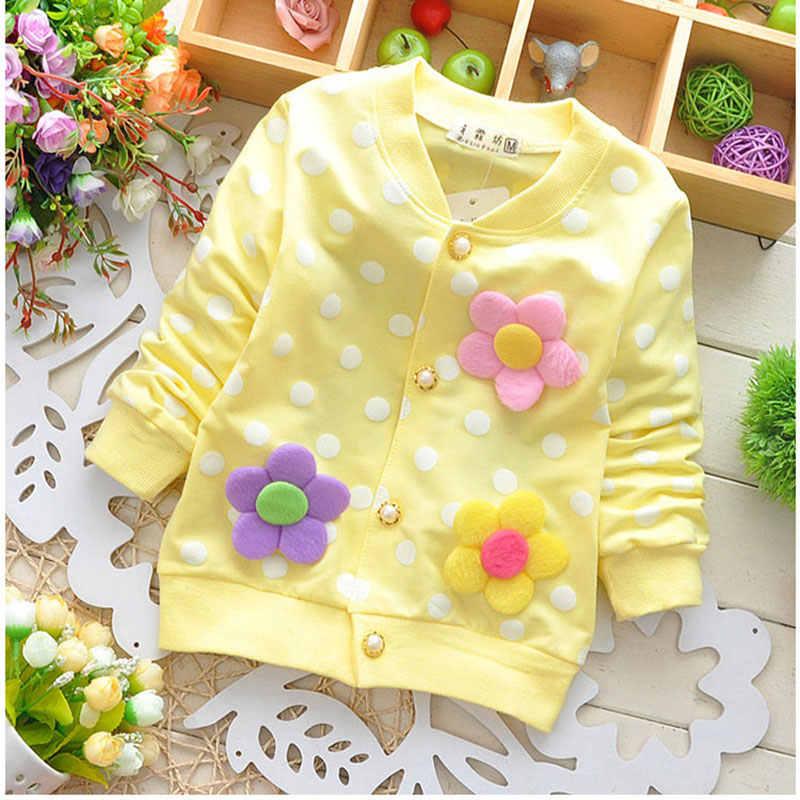 Lente herfst meisjes baby kleding outfits print trui jas voor pasgeboren meisjes zuigelingen baby kleding merk katoen hoodie jas