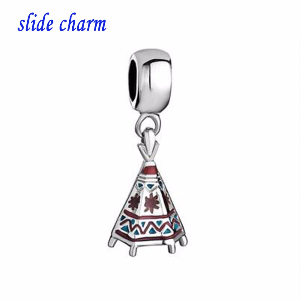 Free shipping European and American Indian tent new listing religious amulet charm pendant beads fit Pandora bracelet