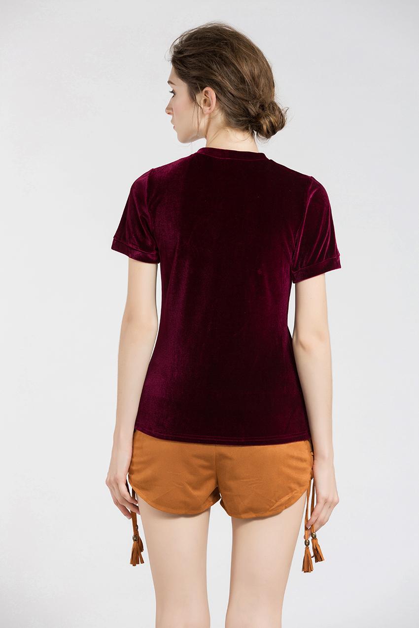HTB15MtTSXXXXXXwapXXq6xXFXXXS - Summer Tops Short Sleeve Cotton Velvet T Shirt Women