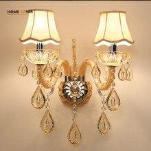 european design led luxus hngen k9 kristall wandleuchten schlafzimmer kopfteil nachttischlampe wandleuchte leuchtechina - Hngende Kopfteillampe