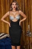 Venus vacation Ms sexy bikini beach condole belt backless cultivate one's morality dress Gem chest cup upper diamond