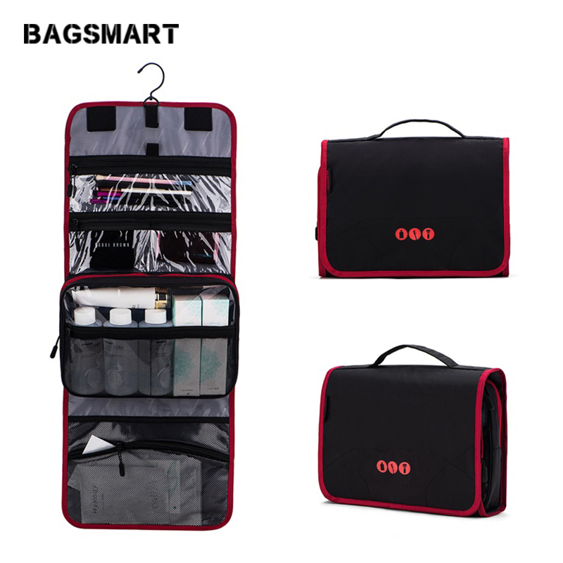 452cba768ec2 BAGSMART New Travel Pouch Waterproof Portable Toiletry Kit Bag Women Cosmetic  Organizer Pouch Hanging Cute Wash Bags Makeup Bag