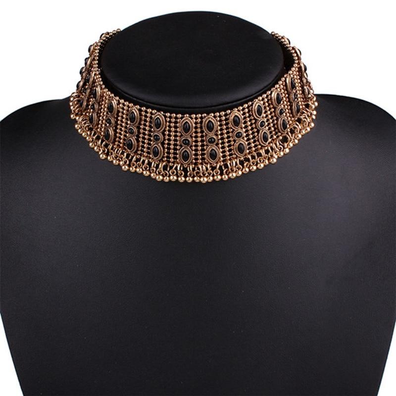 Bohemia luksus mærke Vintage halskæde Maxi Deluxe metal halskæde - Mode smykker
